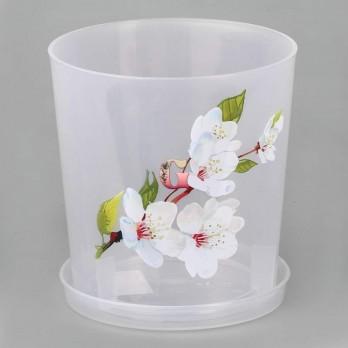 Горшок цветочный для орхидеи 1,8л. с подставкой